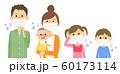 家族 風邪 インフルエンザ 60173114