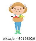 職種のイラスト。女性の農家。怒っている女性。 60198929