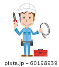 電気工事士 電気工事 作業者 作業員 男性 60198939