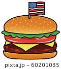 アメリカ国旗がささったハンバーガー 60201035