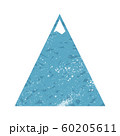 Vector mountains Icon with grunge texture on white 60205611