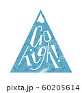 Go high lettering on mountains icon on white 60205614
