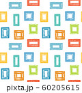 Colorful sketch frames on white. Seamless pattern 60205615