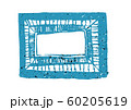 Colorful frame with grunge texture on white 60205619
