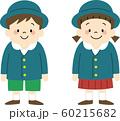 入園式の幼稚園児(制服) 60215682