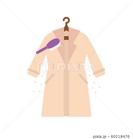 素材-コートの花粉を取る 60218476