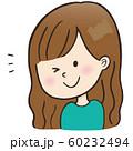 表情_ウィンク(女の子) 60232494