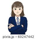 考えこむ女子高校生 60247442