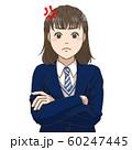 腹を立てる女子高校生 60247445