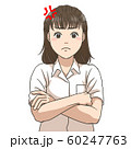 腹を立てる女子高校生 60247763