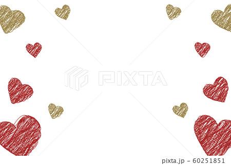 赤と金色のバレンタインフレーム 60251851