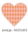アーガイル柄のピンクのハート 60251852