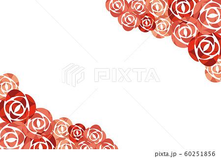 バラの花のバレンタインフレーム 60251856
