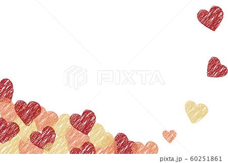 赤とピンクとゴールドのハートの背景 60251861