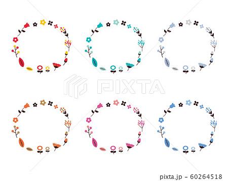 シンプルな花輪フレーム1 60264518