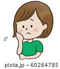 表情_困る(女性) 60264785