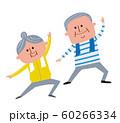 運動する老夫婦 60266334