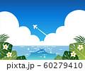南国 青空と海 横 ベクター 可愛い 60279410