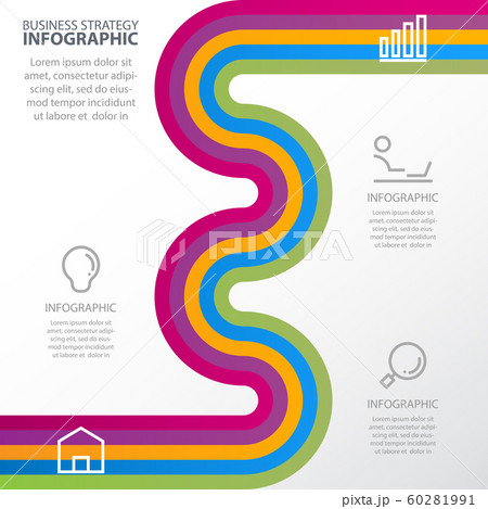 Timeline Business strategy infographic design 60281991