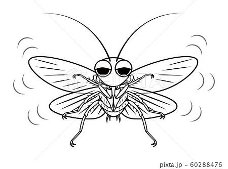 飛んでくるゴキブリ キャラクター ベクターイラスト 60288476