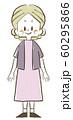 シニア女性-笑顔-全身 60295866