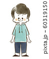 男の子-笑顔-全身-水彩 60319150