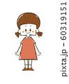 女の子-笑顔-全身 60319151