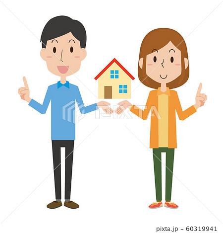 夫婦 マイホーム カップル 住宅 家 60319941