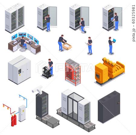 Data Center Isometric Set 60325981