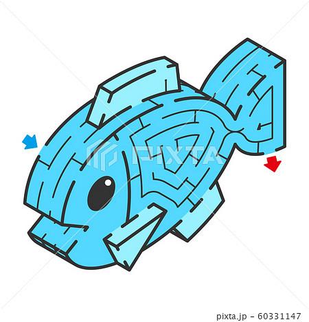 魚のアイソメトリック迷路 60331147