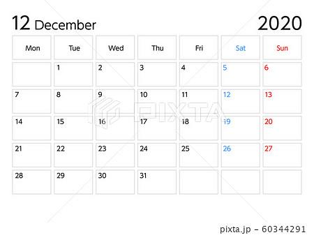 カレンダー 始まり 年 2020 月曜