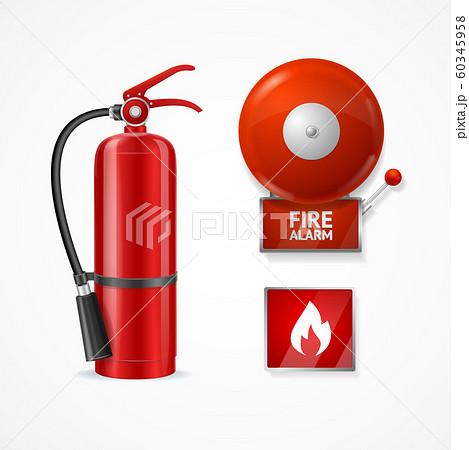 Realistic Detailed 3d Fire Alarm Set. Vector 60345958