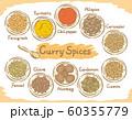 インドカレースパイス素材。 60355779