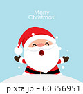 Christmas Greeting Card with Santa Claus, vector illustration. 60356951