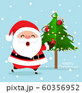 Christmas Greeting Card with Christmas Santa Claus 60356952