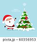 Christmas Greeting Card with Christmas Santa Claus 60356953