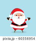 Christmas Greeting Card with Santa Claus, vector illustration. 60356954