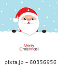 Christmas Greeting Card with Santa Claus, vector illustration. 60356956