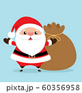 Christmas Greeting Card with Santa Claus, vector illustration. 60356958