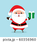 Christmas Greeting Card with Santa Claus, vector illustration. 60356960