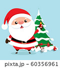 Christmas Greeting Card with Christmas Santa Claus 60356961