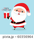 Christmas Greeting Card with Santa Claus, vector illustration. 60356964