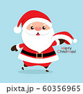 Christmas Greeting Card with Santa Claus, vector illustration. 60356965