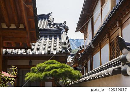 Traditional Korean style architecture, Hanok Village landscape 211 60359057