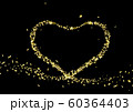 Gold foil in the shape of a heart. Valentines day 60364403