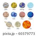 惑星水彩絵の具の質感 60379773