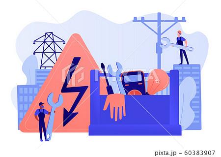 Electrician services concept vector illustration 60383907