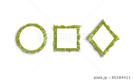 Decorative xmas square, rhombus and round frame mockup 60384411