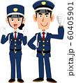 やる気のある警備員の男女 60405901