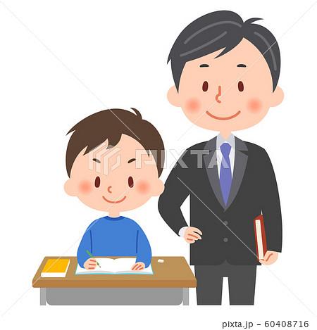 勉強 教師と生徒 60408716